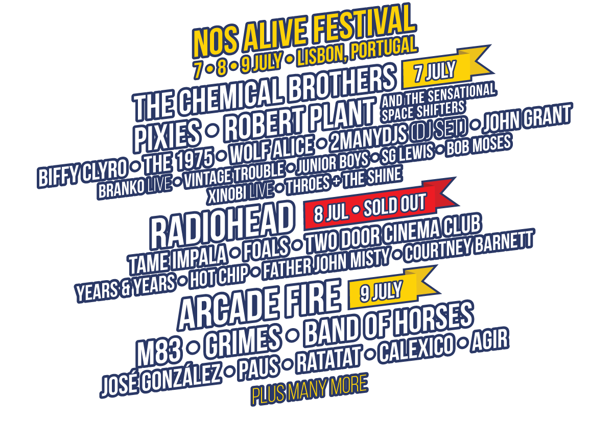 Nos Alive 2016 nearly sold out - Tune Munch Tune Munch