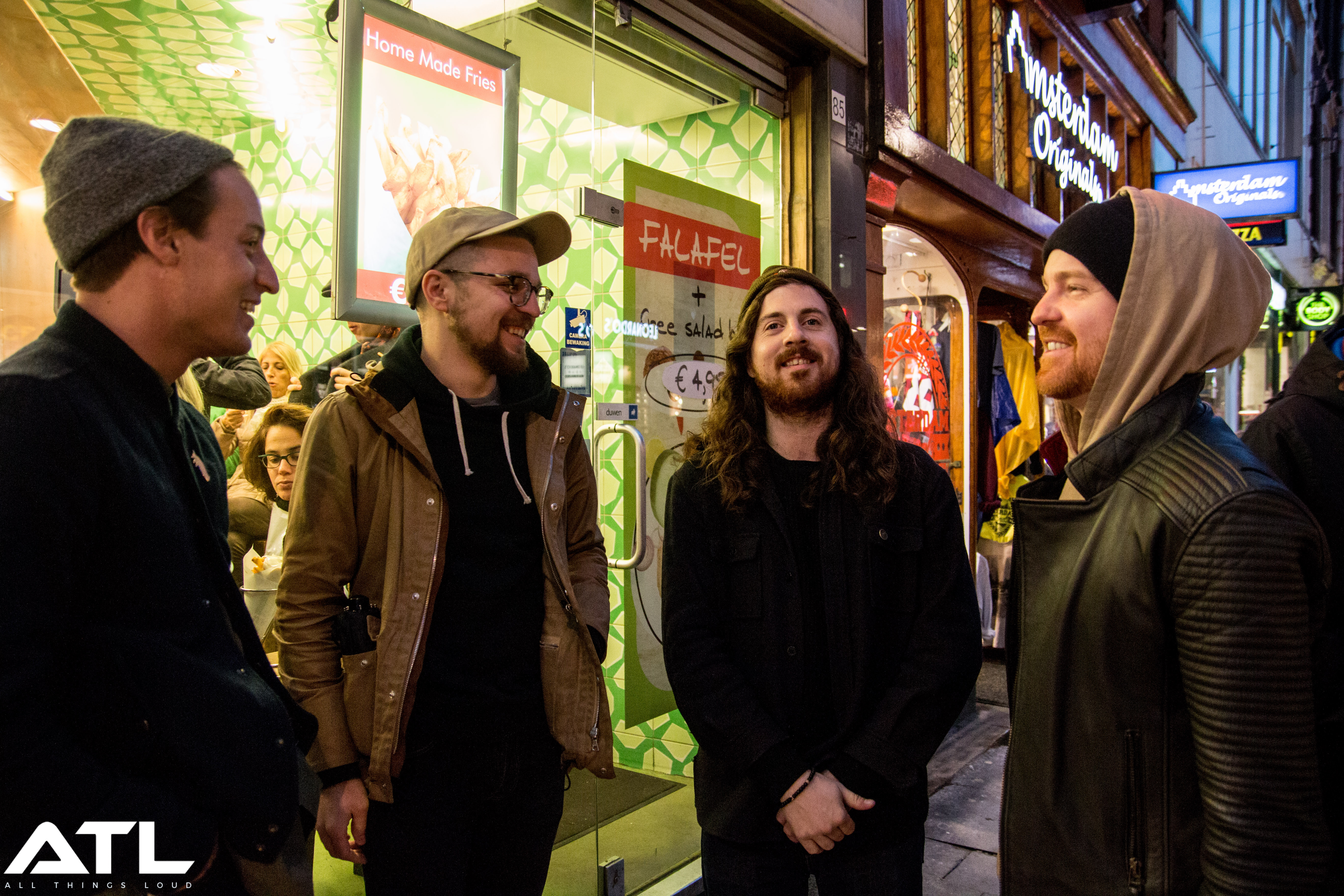 17:07. Members of Silverstein, The Devil Wears Prada and Memphis May Fire hang out downtown.