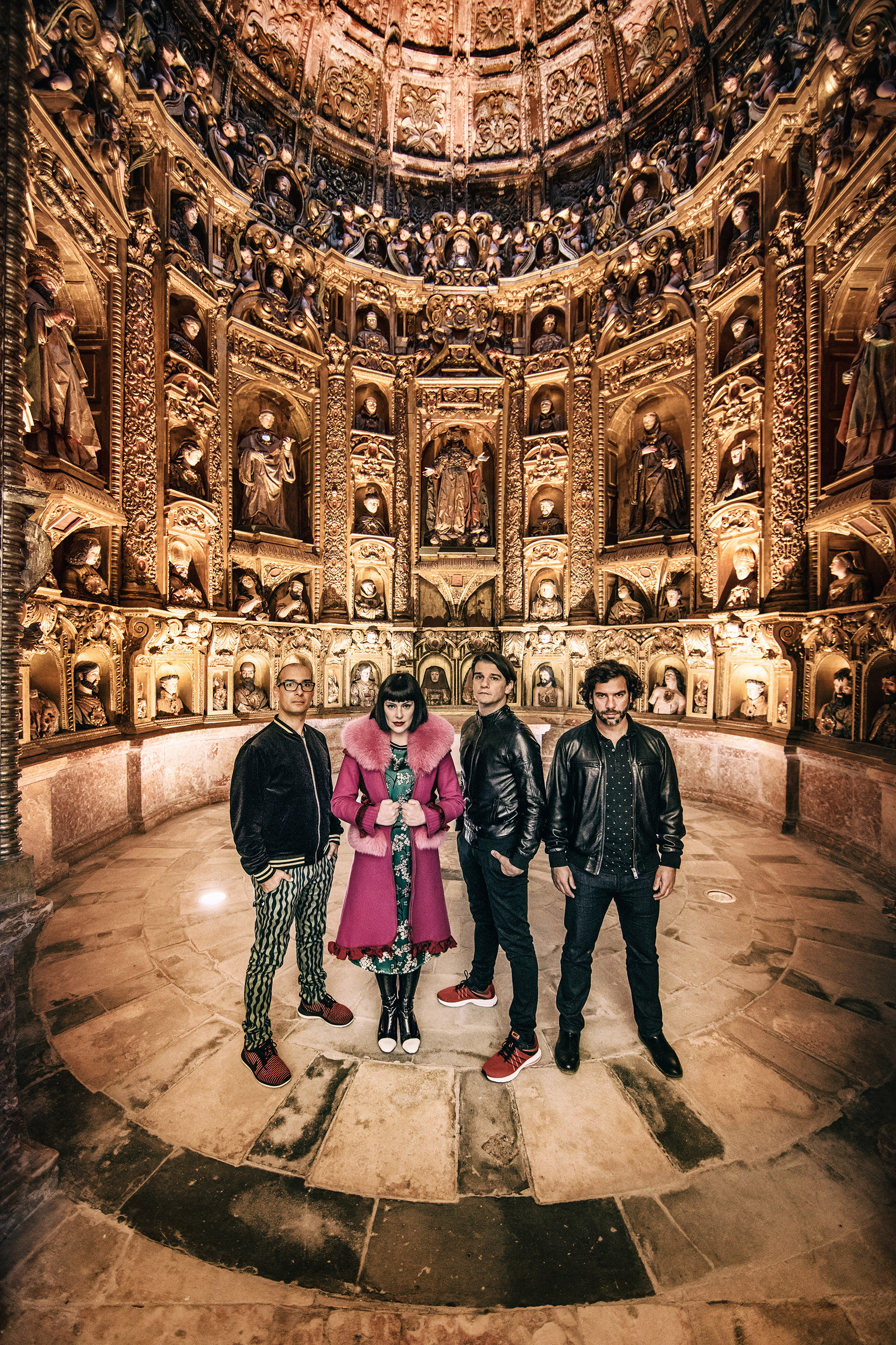 """This is one of the most exciting and beautiful spaces where I've been able to photograph - Alcobaça in Portugal. The band is called The Gift! This shoot was for their most recent studio album, which was produced by none other than Brian Eno."""
