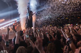 Bring Me the Horizon in Indianapolis I love it because it was such an unplanned shot. I was in the crowd just enjoying the show and suddenly Oli went into the crowd and confetti went off. I did my best to get a picture and ended up taking my favorite picture ever.