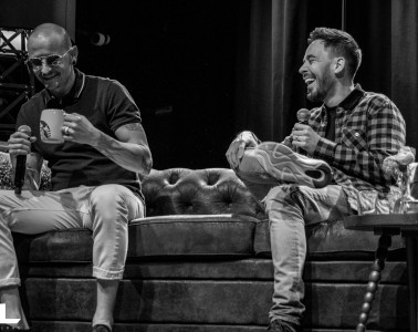 Chester Bennington and Mike Shinoda during a press day in Amsterdam this year. (c) Jack Parker