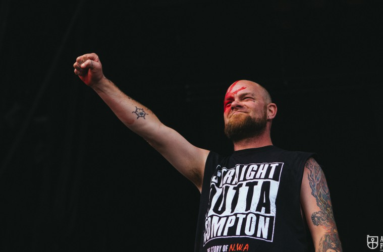 Five Finger Death Punch's Ivan Moody. (c) Natasja de Vries
