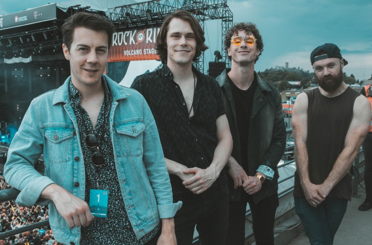 Don Broco enjoy some downtime at Rock am Ring 2017. (c) Jack Parker
