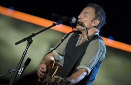 Bruce Springsteen plays harmonica and guitar during his set for The Concert for Valor in Washington, D.C. Nov. 11, 2014. DoD News photo by EJ Hersom